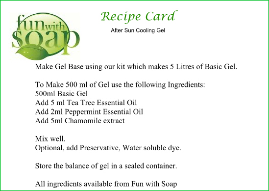 Recipe Card After Sun Cooling Gel